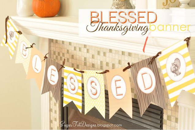 Thanksgiving Free Printable Banner 1