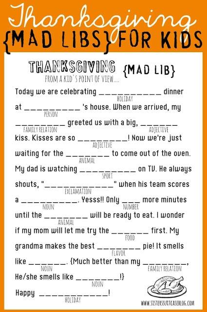 12 Free Printable Thanksgiving