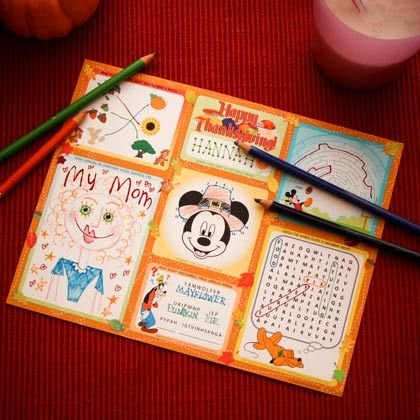 Thanksgiving Placemat Disney