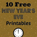 10 Free New Year's Eve Printables