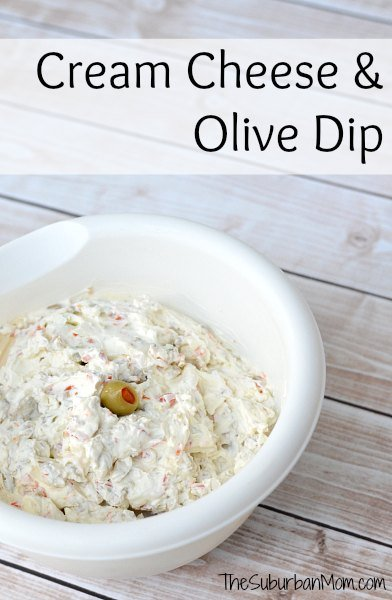 how to make cream cheese and olive spread