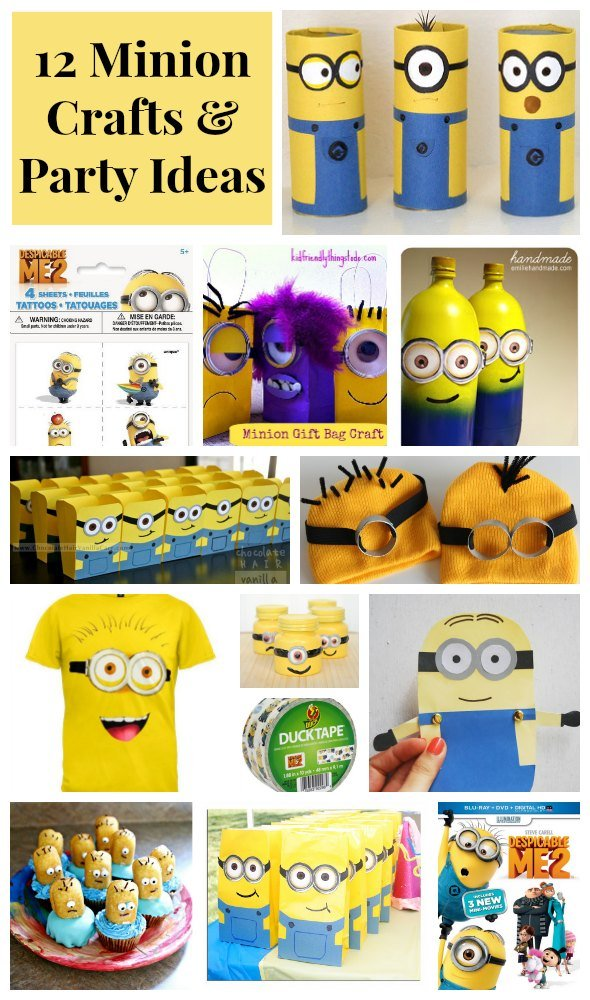 12 Despicable Me Minion Crafts Amp Party Ideas Thesuburbanmom
