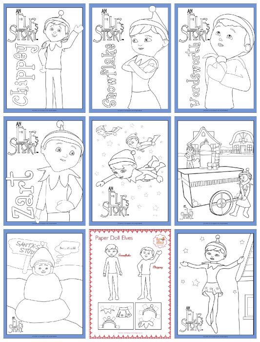 Elf On The Shelf Snowflake Coloring Pages