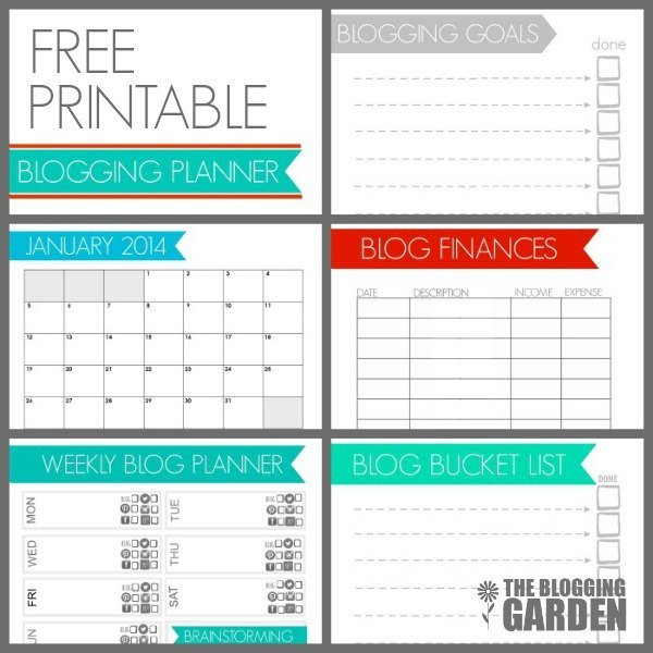 Free Printable Blogging Planner 2014