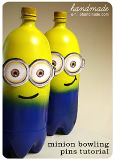 Minion Bowling Pins Craft