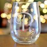 Monogramed Stemless Glassware