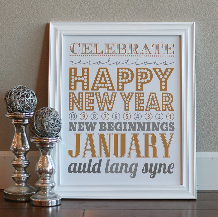 10 New Year S Eve Free Printables