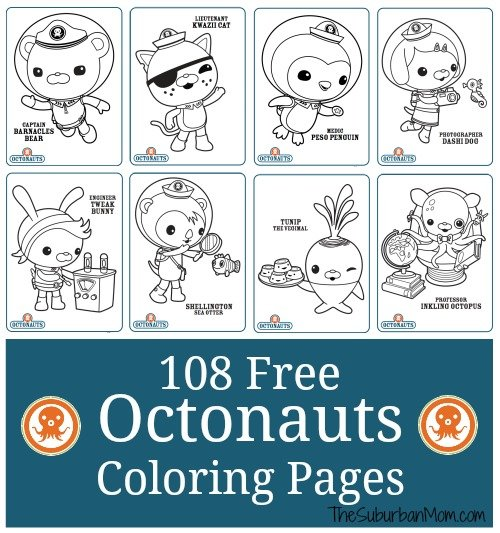 octonauts coloring pages bbc - photo#18