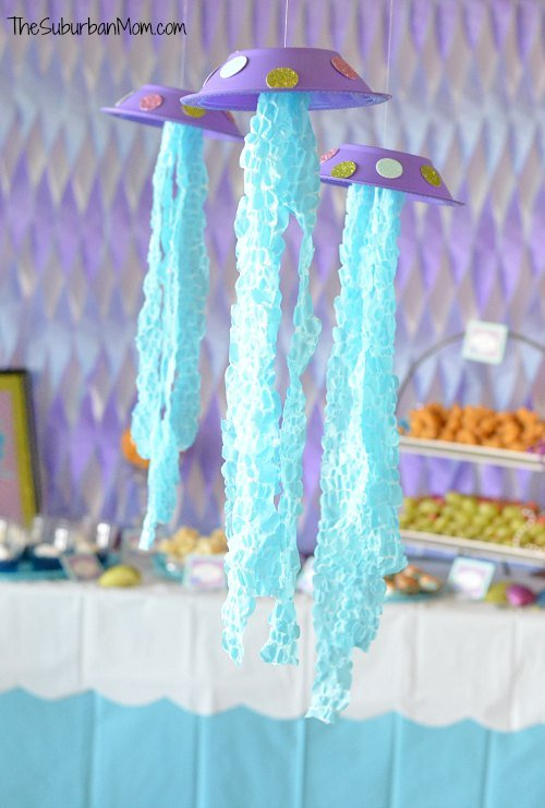 The little mermaid ariel birthday party ideas food for Ariel decoration