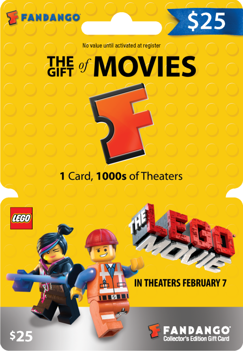 The LEGO Movie Fandango Gift Cards ~ $100 Giveaway - TheSuburbanMom