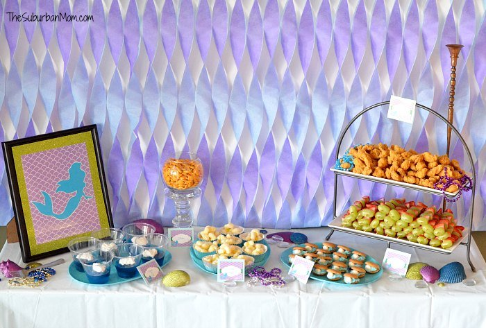 The little mermaid ariel birthday party ideas food for Ariel birthday decoration ideas