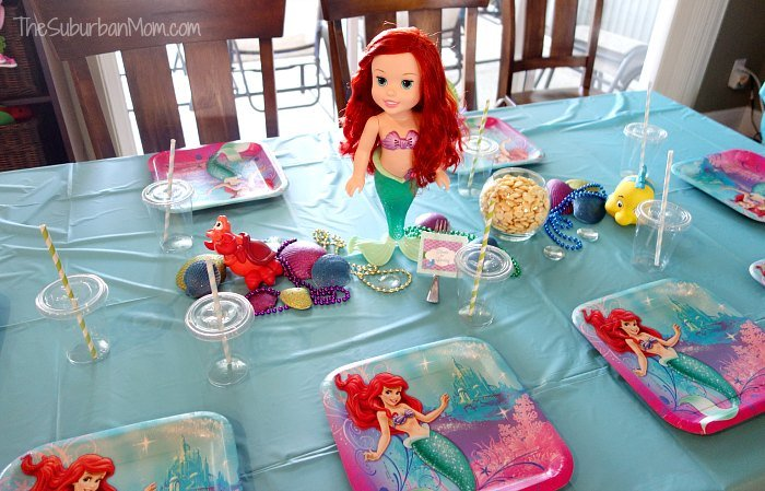 The little mermaid ariel birthday party ideas food for Ariel decoration party