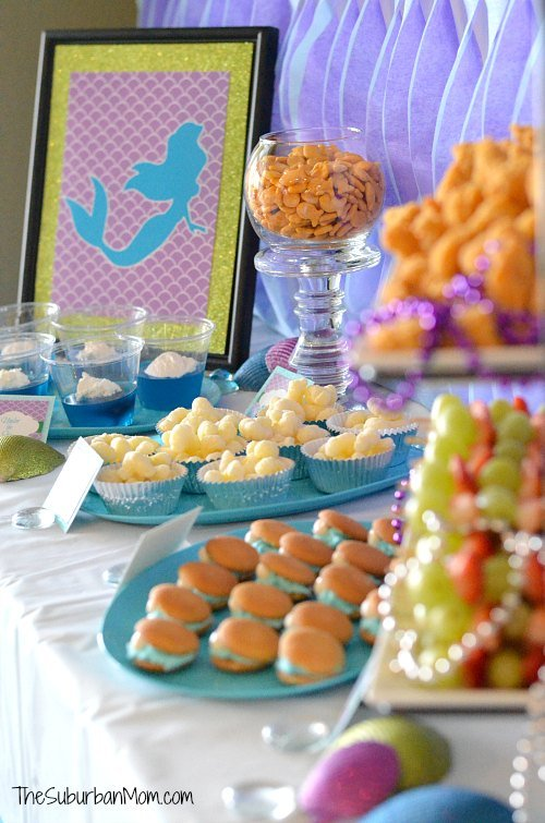 The Little Mermaid Ariel Birthday Party Ideas Food Crafts More Thesuburbanmom