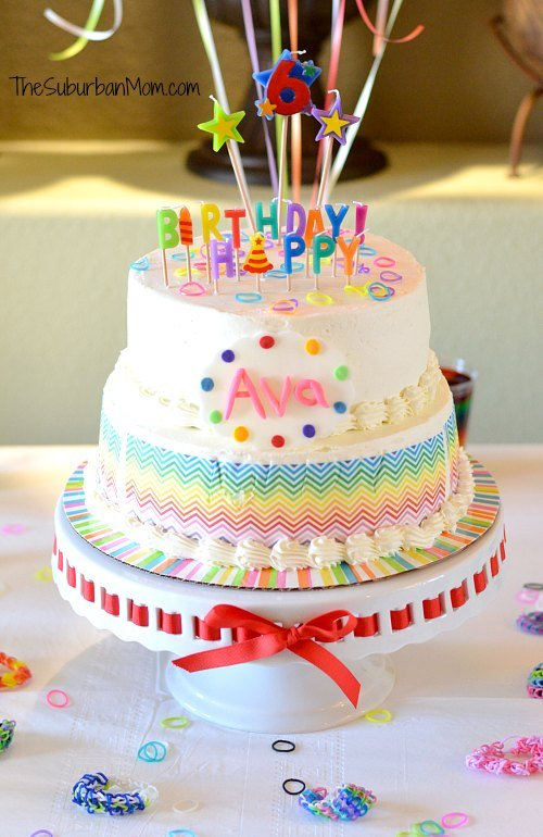Rainbow Loom Birthday Cake