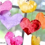 Valentines Day Craft Sun Catchers