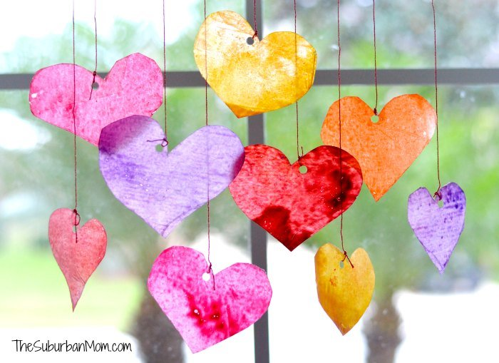 valentine s day sun catchers kids craft