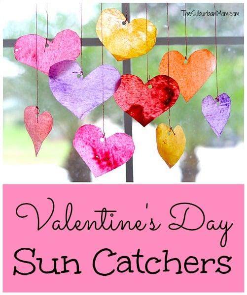 Valentine\'s Day Sun Catchers: Kids Craft