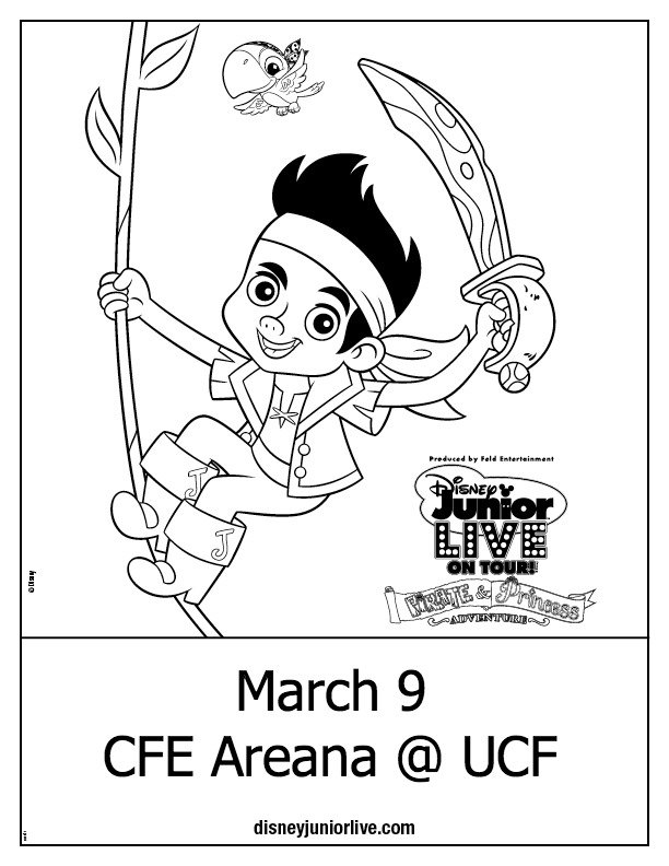 Disney Junior Coloring Pages Jake : Disney junior live pirate princesses at ucf free