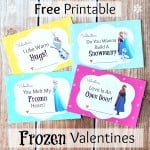 FREE Printable Disney Frozen Valentine's Day Cards
