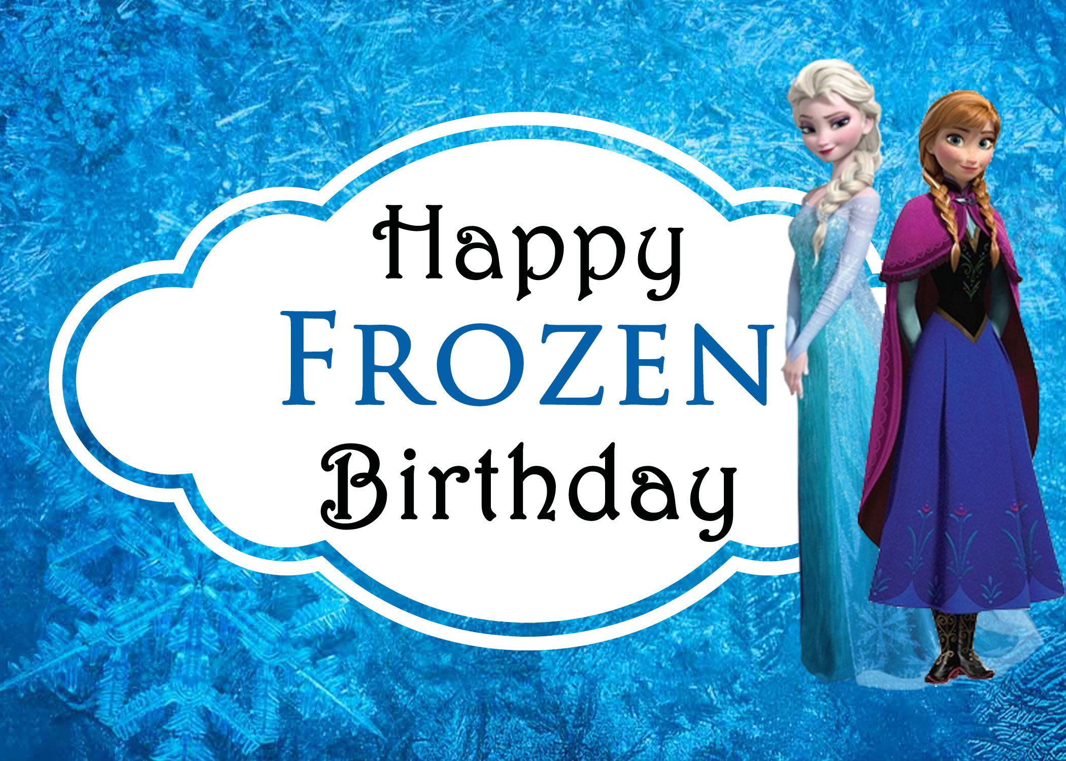 graphic about Disney Birthday Cards Printable identify Celebrating Sisters With Disneys Frozen + Free of charge Printable
