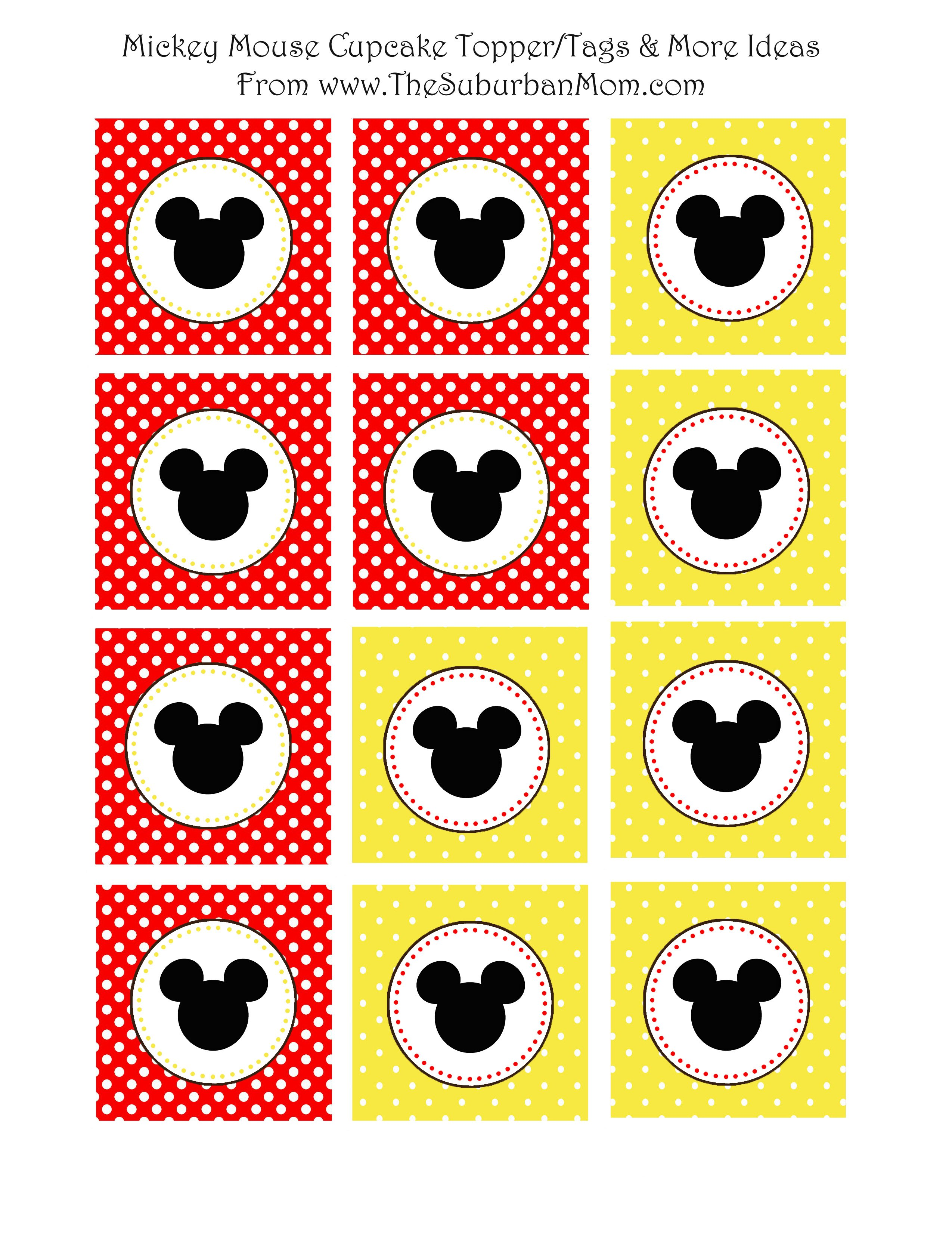 mickey mouse birthday free printables
