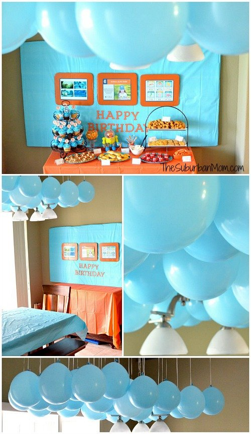 Octonatus Party Balloon Canopy Decoration