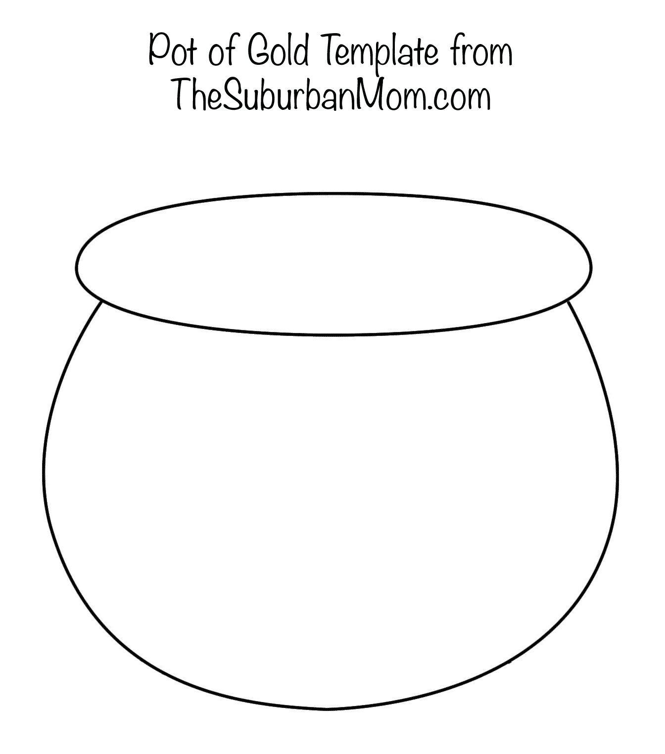 Painting rainbows with q tips free printable template for Pot of gold coloring page printable