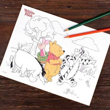 Winnie the Pooh Printable Craft Coloring Page