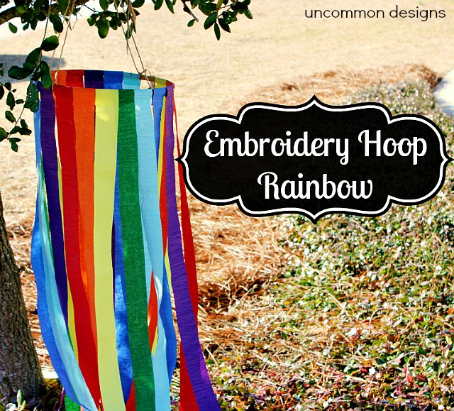 Embroidery Hoop Rainbow