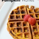 Chocolate Chip Pumpkin Waffles