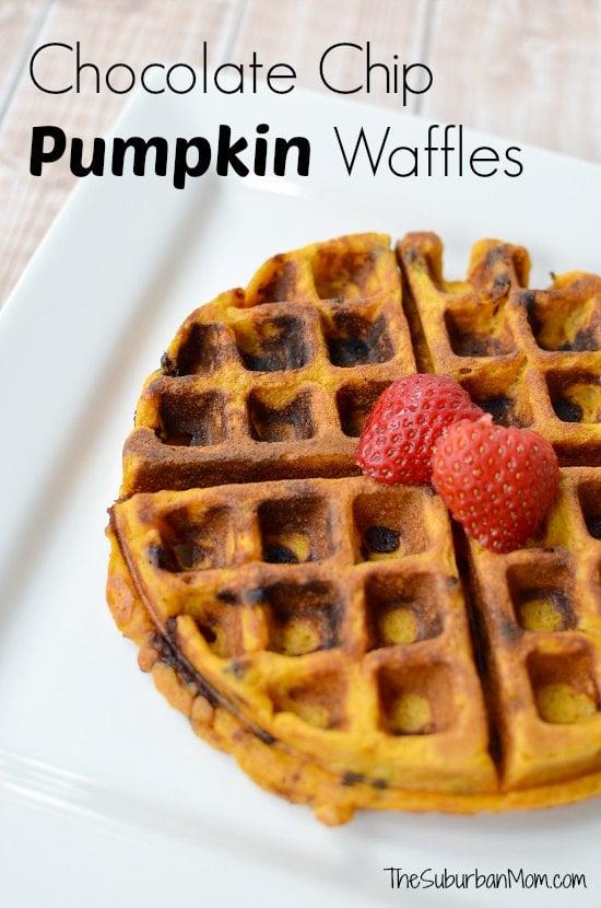 Chocolate Chip Pumpkin Waffles - TheSuburbanMom