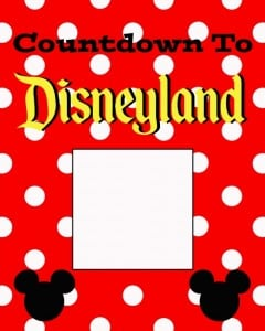 Countdown to Disneyland