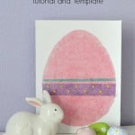 Easy DIY Easter Egg Canvas + Template