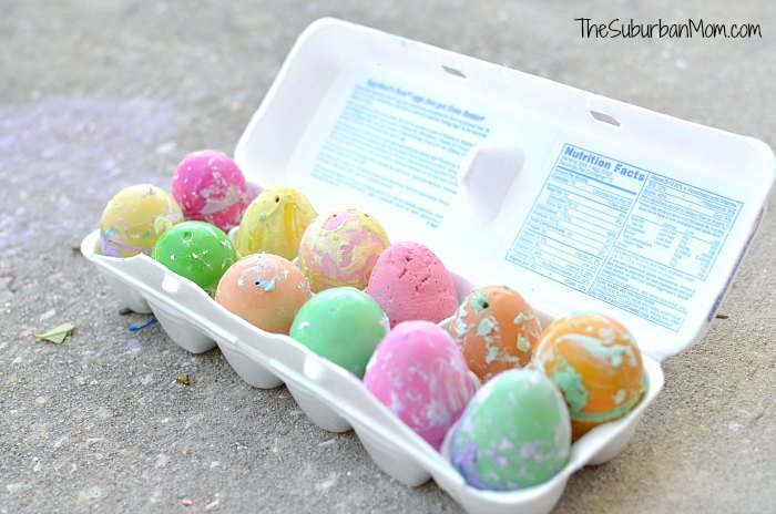 DIY Sidewalk Chalk Easter Eggs Tutorial