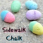 Homemade Easter Eggs Sidewalk Chalk Tutorial