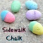DIY Sidewalk Chalk Eggs