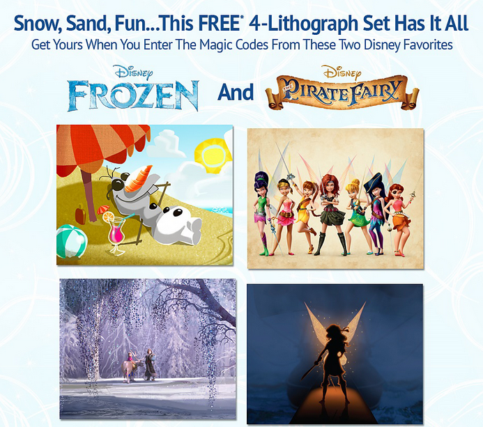Frozen Pirate Fairy Disney Movie Rewards Free Lithograph
