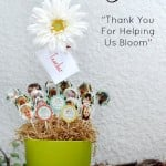 Thank You For Helping Us Bloom DIY Class Teacher Gift