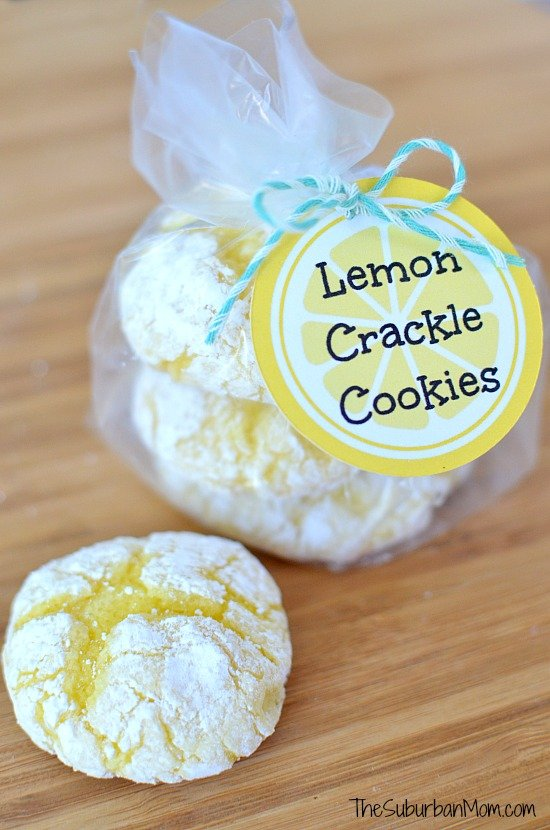 Easy Lemon Crinkle Cookies With Free Printable Tag