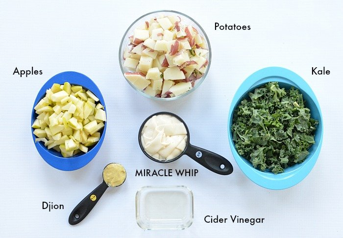 Miracle Whip Kale Apple Potato Salad