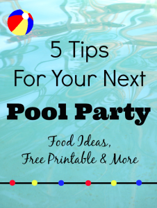 Pool Party Tips Free Printable