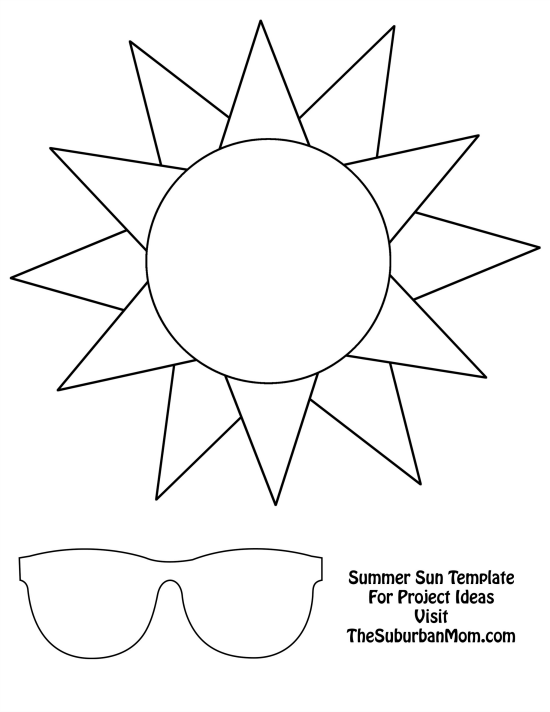 Tactueux image for printable sun template