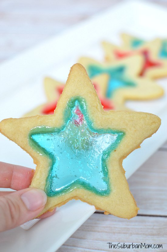 4th of July Stained Glass Star Cookies