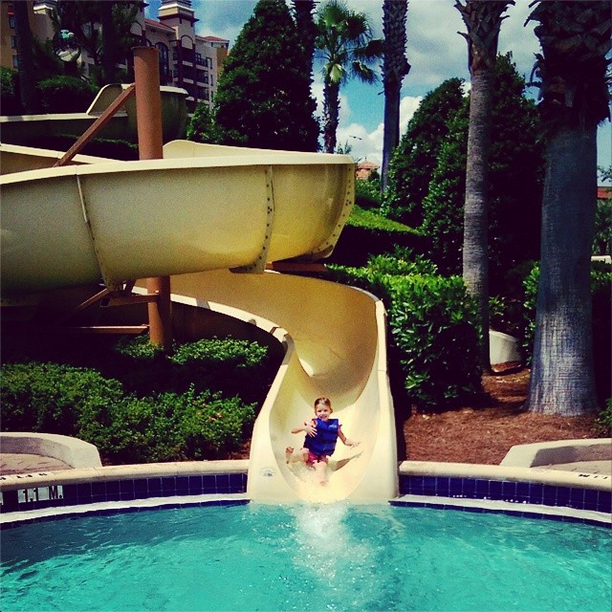 Bonnet Creek Resort Twisty Water Slide