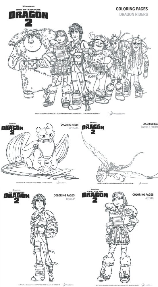 How To Train Your Dragon 2 Printable Coloring Pages 25 Giveaway