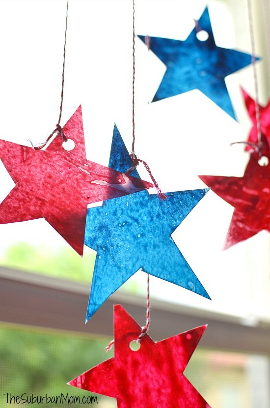 Star Sun Catchers 4th of July Craft