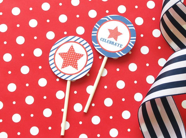 4th of July Tags Free Printable