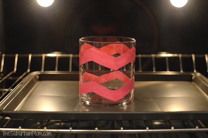 Chevron Frog Tape Glass Craft