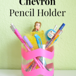 DIY Chevron Pencil Holder Tutorial
