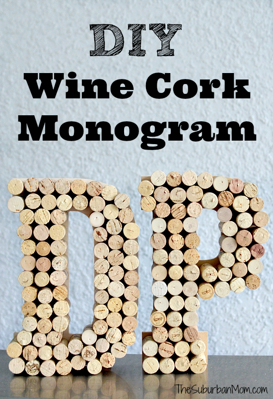 diy wine cork monogram craft